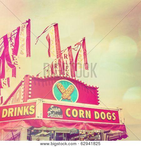 Corn dog stand