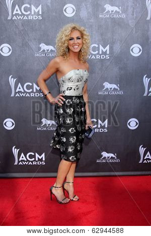 LAS VEGAS - APR 6:  Kimberly Rhodes Schlapman at the 2014 Academy of Country Music Awards - Arrivals at MGM Grand Garden Arena on April 6, 2014 in Las Vegas, NV