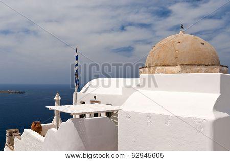 Santorini Sea View With Church