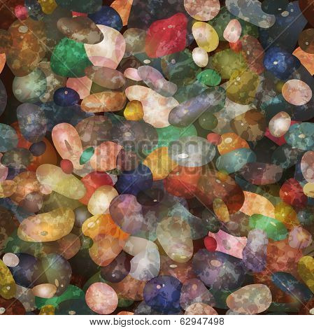 Seamless pattern pebbly stones. Vector, EPS10.