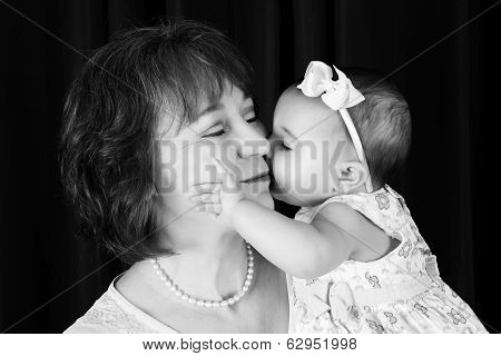 Baby and grandmother