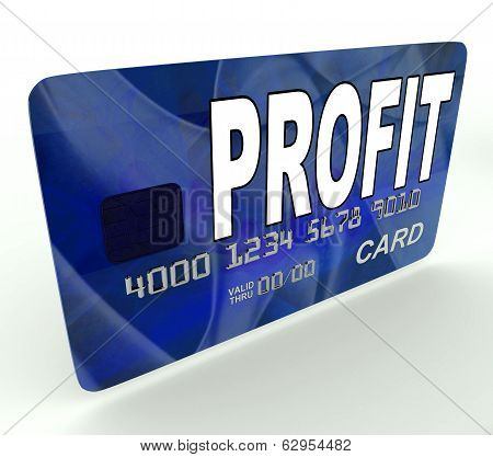 Profit On Credit Debit Card Shows Earn Money