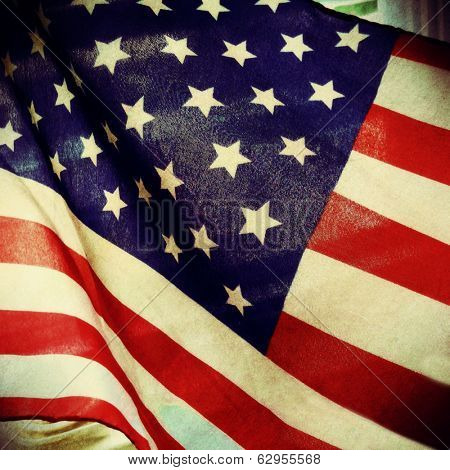 Instagram Style Image Of An American Flag memorial day, 4th of july, veteran's day