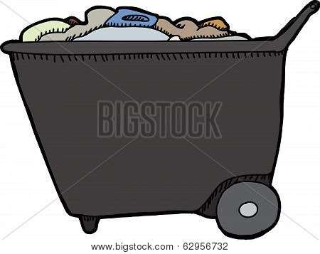 Push Cart With Trash