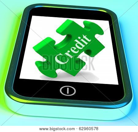Credit Smartphone Shows Financial Loan And Borrowing Money