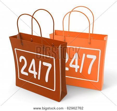 Twenty Four Seven Bags Show Hours Open