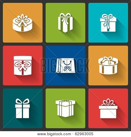 Gift boxes icons
