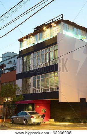 Modern Building in Miraflores, Lima, Peru
