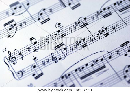 A music sheet on the white background