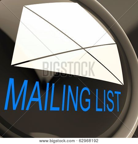 Mailing List Envelope Means Contacts Or Email Database