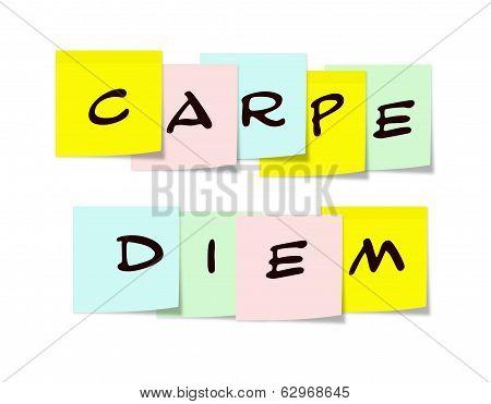 Carpe Diem Sticky Notes