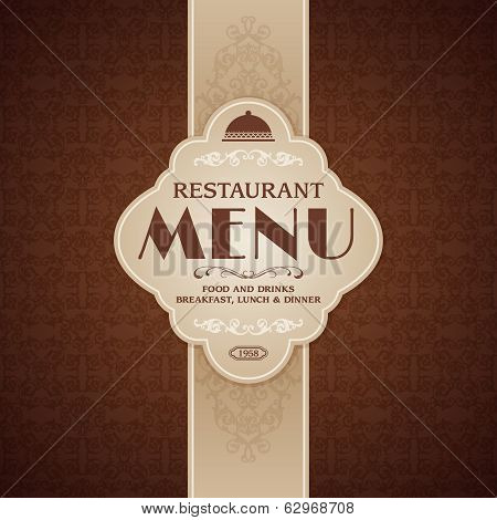 Restaurant cafe menu brochure template