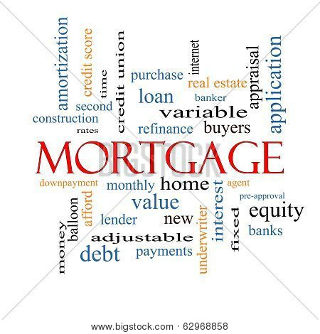 Mortgage Word Cloud Concept