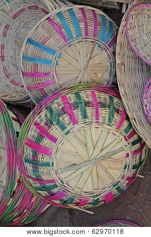 Bamboo Baskets In Random, India