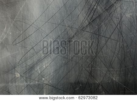 Dusty scratched glass window texture