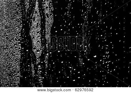 Water drops on abstract background