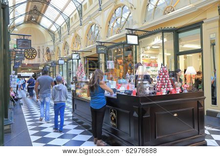 Melbourne shopping arcade