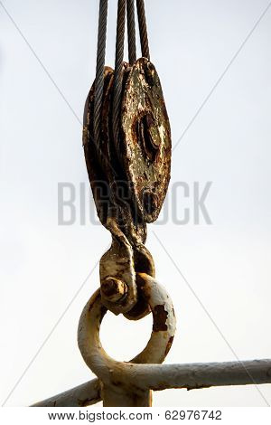 Old Rusted Pulley