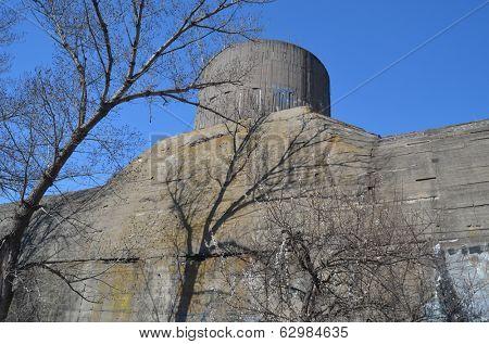 KIEV, UKRAINE -APR 6, 2014: Old tunnel of Stalin. Part of Kiev defense line in WW2 time. today named