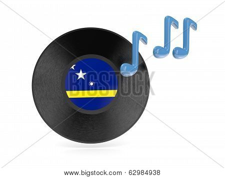 Vinyl Disk With Flag Of Curacao