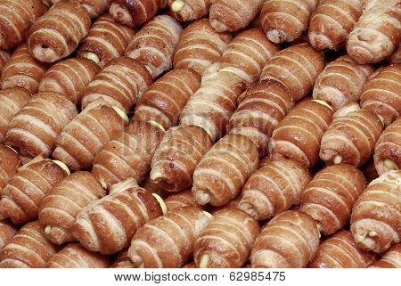 italian pastries, cannoncini, typical sweet food Italy