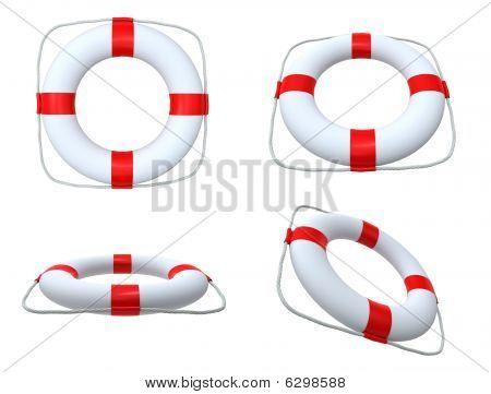 White Life Belts
