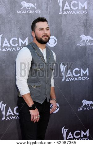 LAS VEGAS - APR 6:  Tyler Farr at the 2014 Academy of Country Music Awards - Arrivals at MGM Grand Garden Arena on April 6, 2014 in Las Vegas, NV