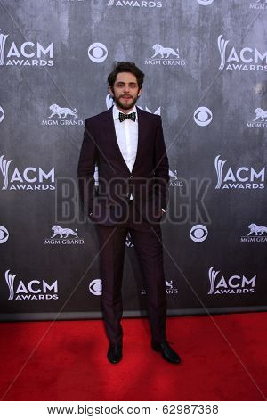 LAS VEGAS - APR 6:  Thomas Rhett at the 2014 Academy of Country Music Awards - Arrivals at MGM Grand Garden Arena on April 6, 2014 in Las Vegas, NV