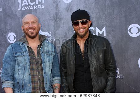 LAS VEGAS - APR 6:  LoCash Cowboys at the 2014 Academy of Country Music Awards - Arrivals at MGM Grand Garden Arena on April 6, 2014 in Las Vegas, NV