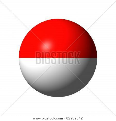 Sphere with Flag of Principality of Monaco