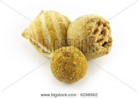 Pork Pie With Scotch Egg And Sausage Roll