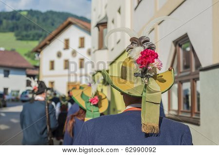 Maria Ascension Procession Oberperfuss, Austria.