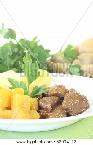 Venison Goulash With Parsley