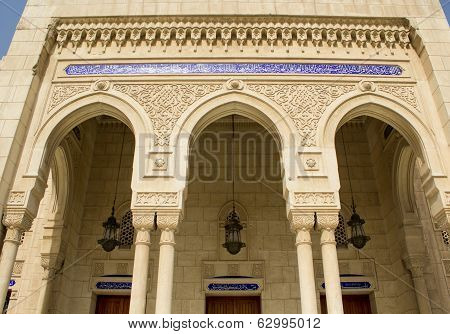 Islamic architecture in mosque Um Al-tobool