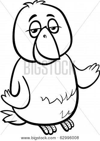 Canary Bird Cartoon Coloring Page