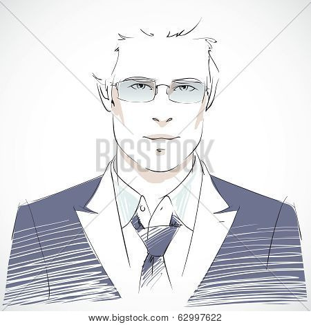 Stylish young businessman portrait