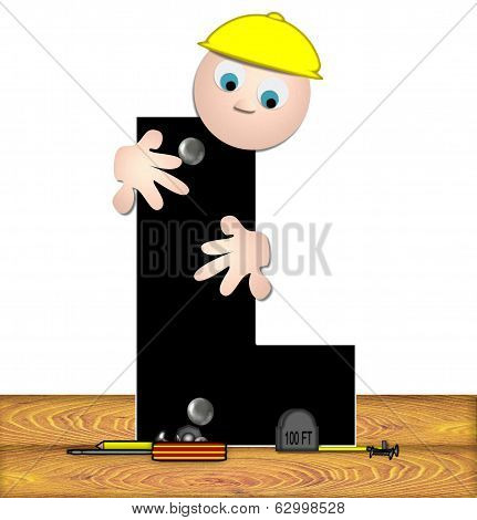 Alphabet Construction Worker L
