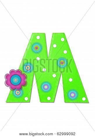 Alphabet Hippy Power Letter M