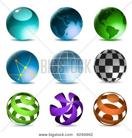 Globes and spheres set