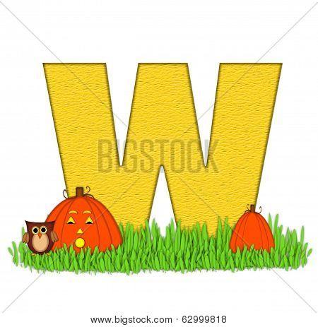 Alphabet Pumpkin Patch W
