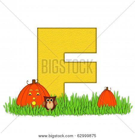 Alphabet Pumpkin Patch F