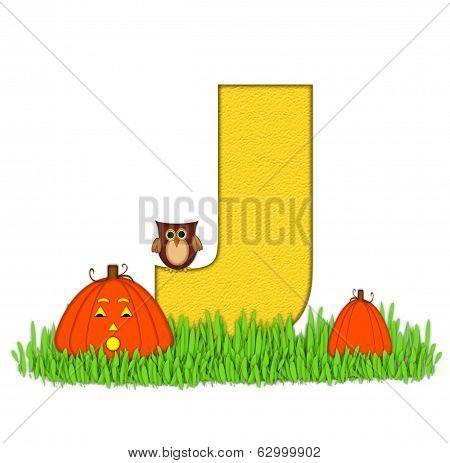 Alphabet Pumpkin Patch J