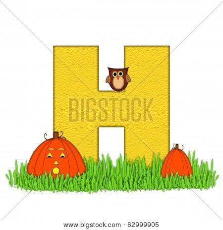 Alphabet Pumpkin Patch H