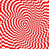 Design Heart Twirl Movement Illusion Background