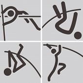 picture of pole-vault  - Summer sports icons set  - JPG