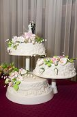 foto of three tier  - Beautiful tasty three - JPG