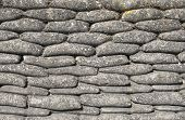 stock photo of sandbag  - Background sandbags of trenches world war one - JPG