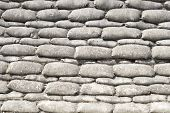 picture of sandbag  - Background sandbags of trenches world war one - JPG
