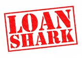 pic of loan-shark  - LOAN SHARK red Rubber Stamp over a white background - JPG