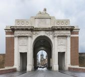 Looking Through The Menin Gate In Ypres, Belgium.